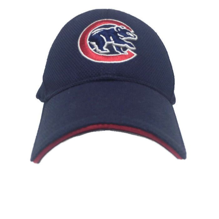 192a8e3f542 Chicago Cubs New Era Blue Baseball Hat Cap 3930 Medium Large Stretch Fit   NewEra  BaseballCap