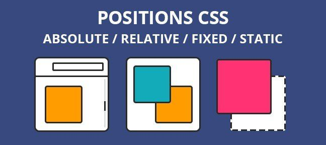 Les positions CSS : absolute, relative, fixed et static