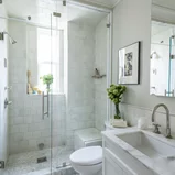 Hidden Farmhouse Wishing Well Transitional Bathroom Boston by Cummings Architecture Interiors