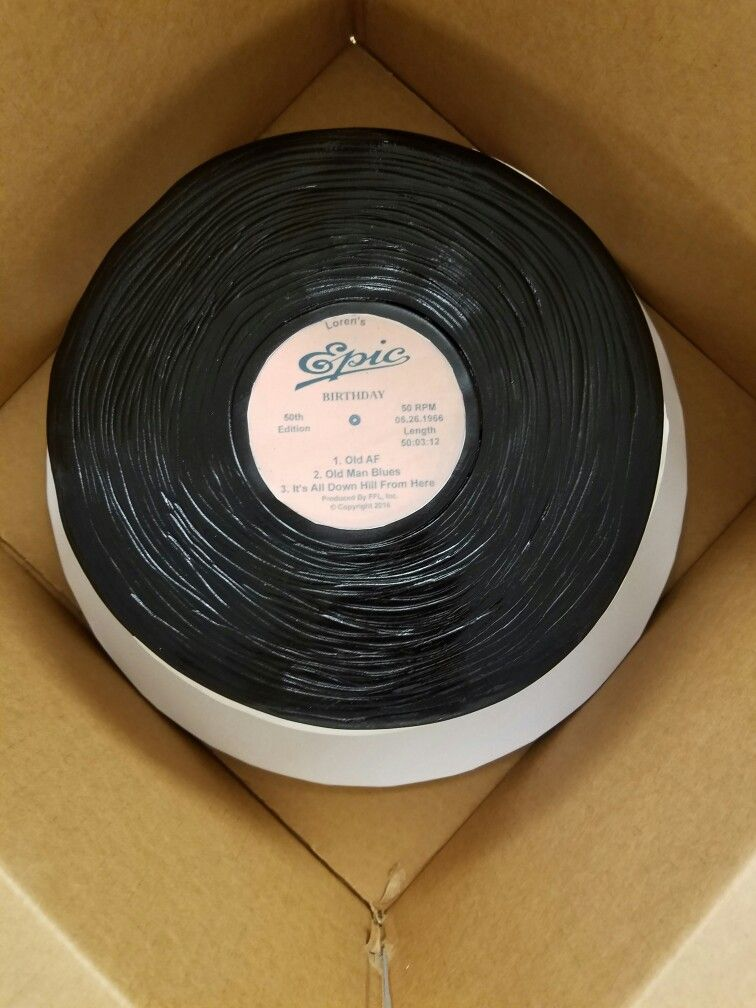 Epic Vinyl Record Birthday Cake Bake L♡ve Pinterest