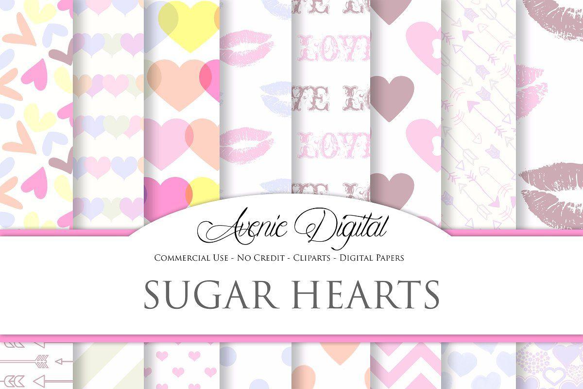 Sweet Valentine Digital Paper