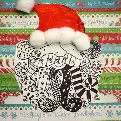 Super Simple Santas Grade 3 4 And 5 Art Christmas Art Projects Winter Art Lesson Holiday Art Projects