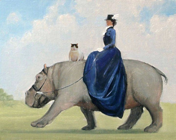Image result for saddle on a hippopotamus