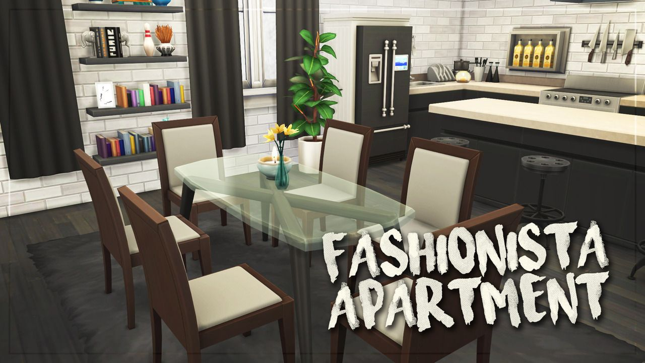Fashionista Apartment Nocc Cc Free 1 Bedroom 1 Bathroom 45 431 Placed In 17 Culpepper House Please Use The Cheat Sims House Apartment Apartment Renovation