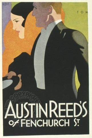 Poster For Austin Reed S Of Fenchurch Street London Art Deco Posters Art Deco Illustration Art Deco