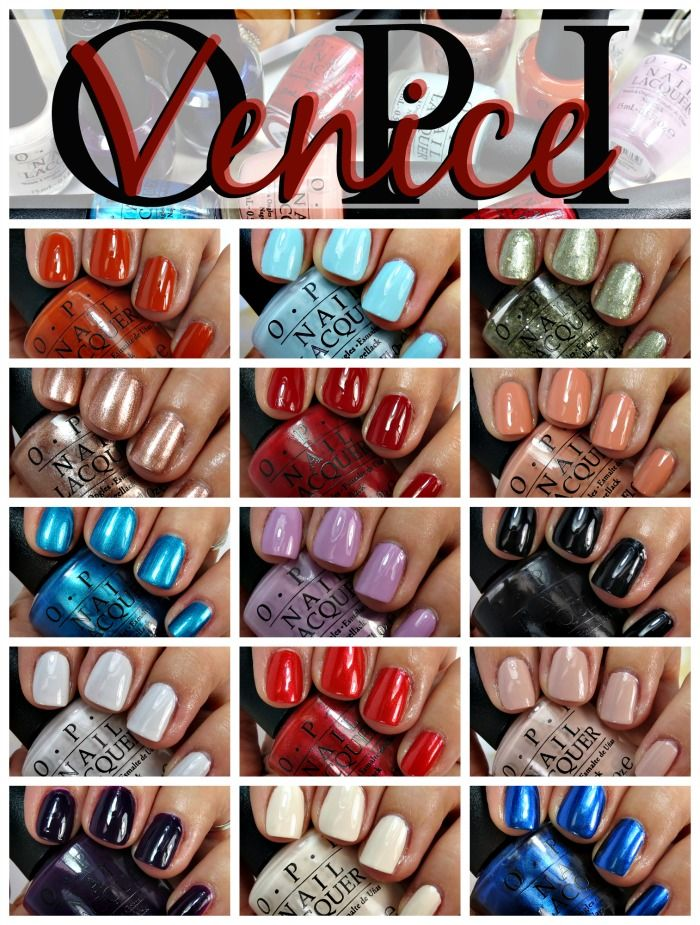 Venice Nail Polish Collection Swatches