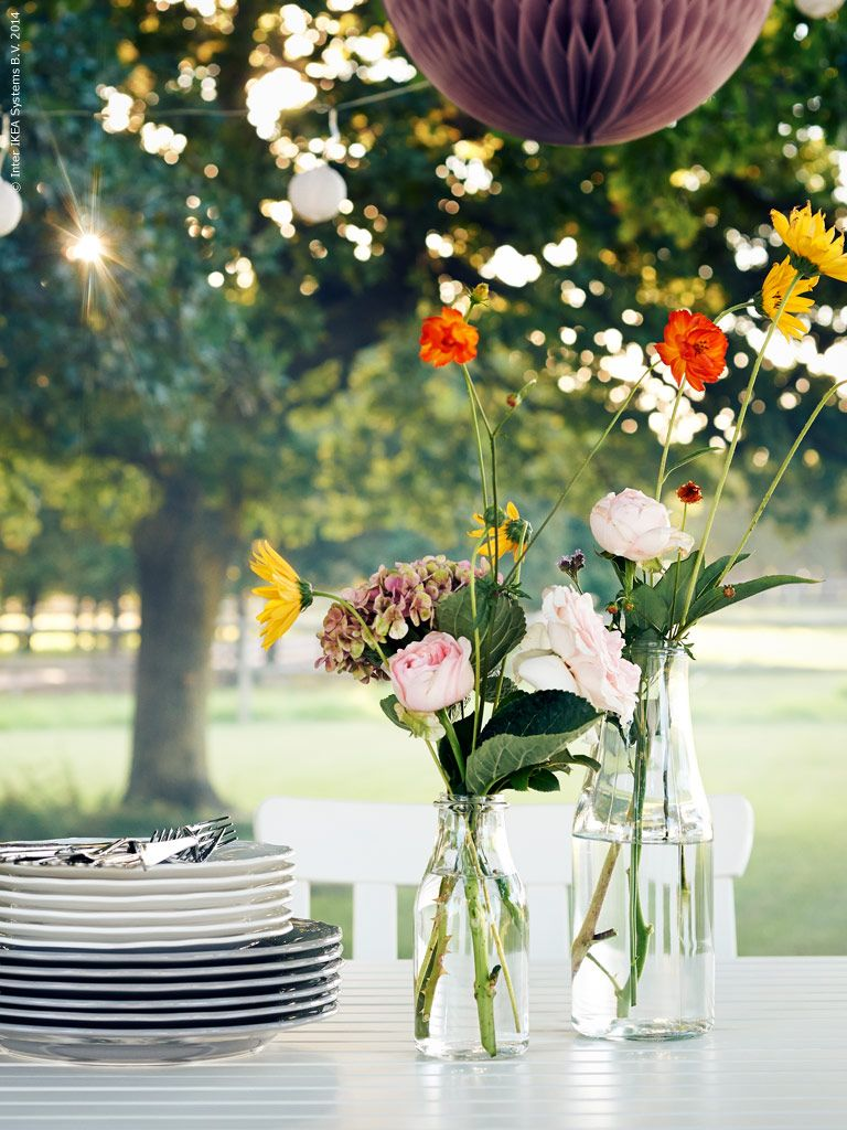 Garden party inspiration! ENSIDIG vases from IKEA in different sizes ...