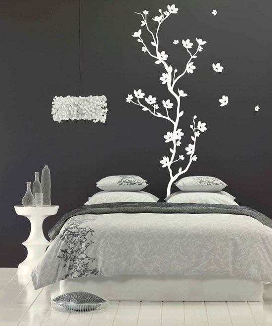 Cr atives id es de papier peint chambre  Bedroom Wall StickersTree Wall  DecalsWall. Cr atives id es de papier peint chambre   Bedrooms  Walls and Diy wall