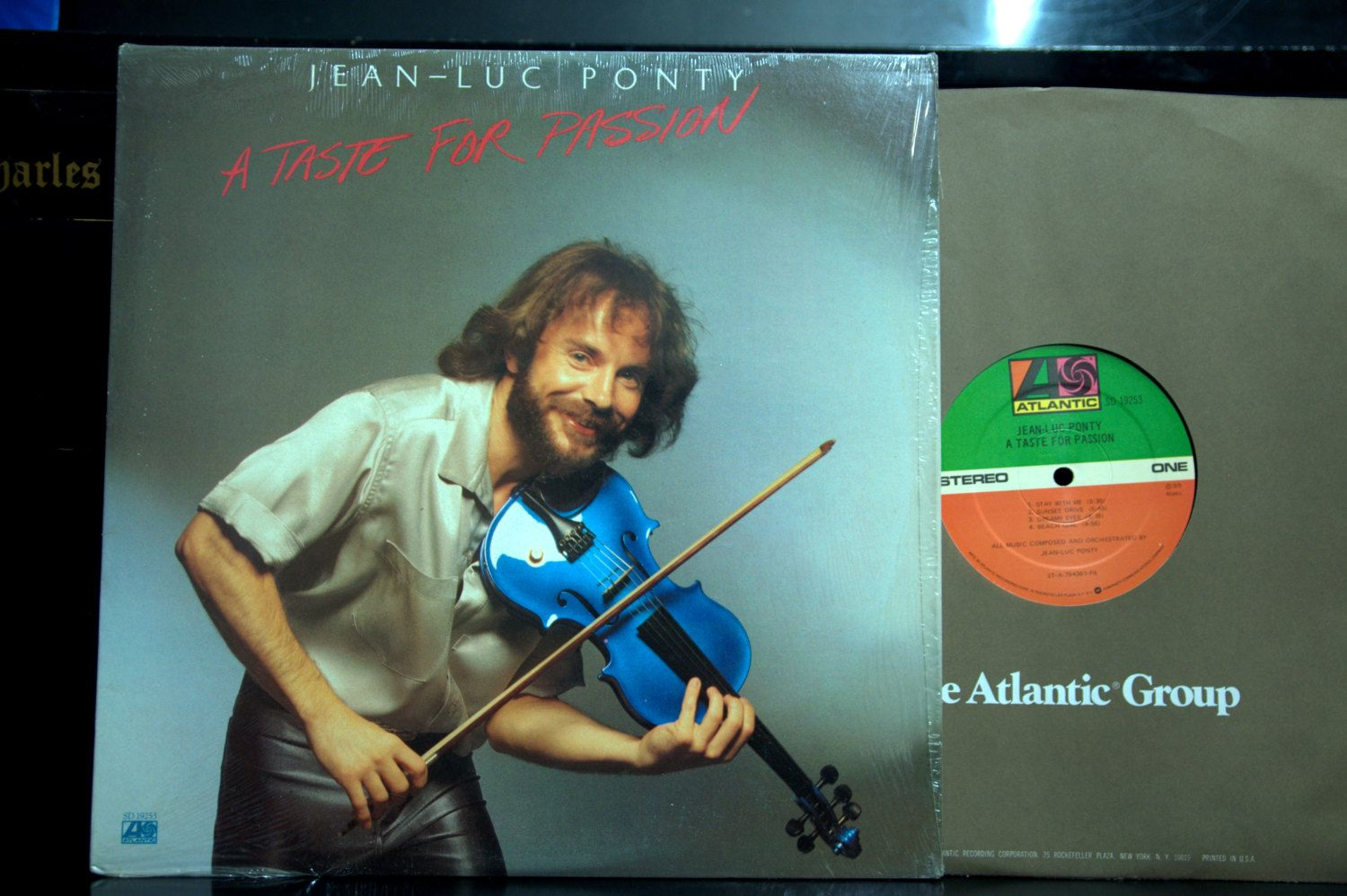 Jazz LP - Jean-Luc Ponty - a Taste for Passion Atlantic SD 19253