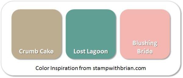 Stampin' Up! Color Inspiration: Crumb Cake, Lost Lagoon, Blushing Bride