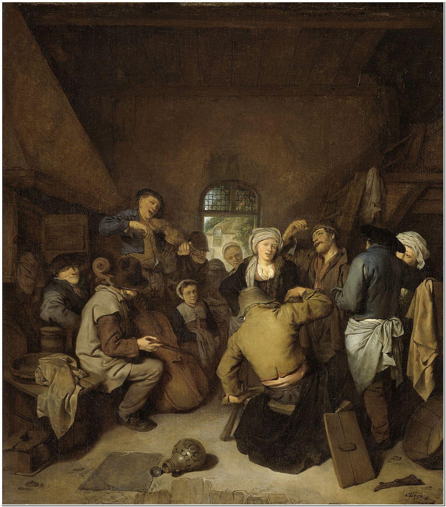 Music-making and Dancing Peasants (A Musical Entertainment), Cornelis Pietersz. Bega, 1650 - 1664