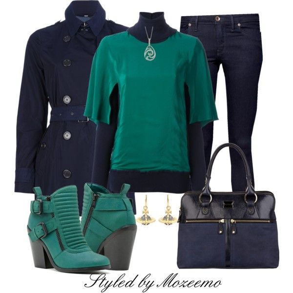 Jeans Outfit with Buckled Boot, created by mozeemo on Polyvore