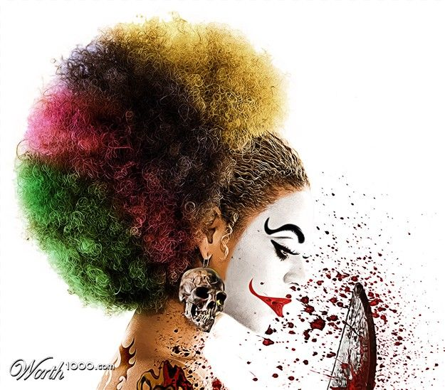 Evil Celebrity Clowns 6 - Beyonce by daniloco