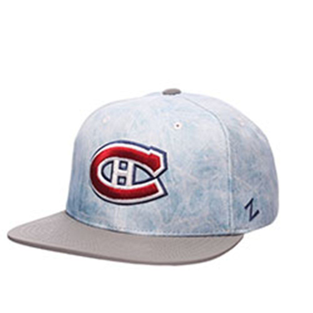 NHL Montreal Canadiens Men s Icebreaker Snapback Hat - Blue Ice   Grey a1dd82d4e5f