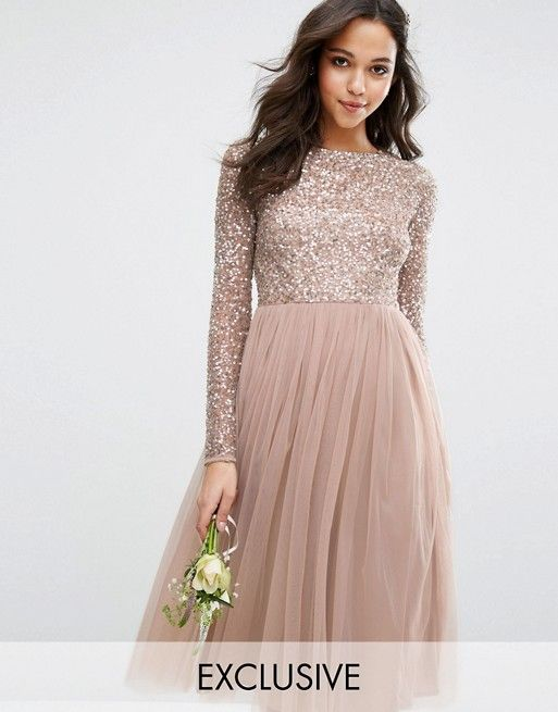 Rose gold sparkle #bridesmaids #bridesmaiddresses #bridesmaiddress ...