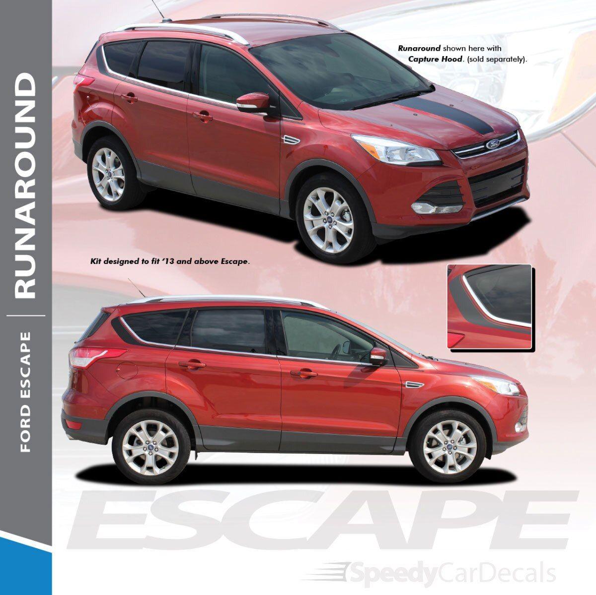 Ford Escape Upper Body Stripe Decals Runaround 3m 2013 2019 Premium And Supreme Install Carros