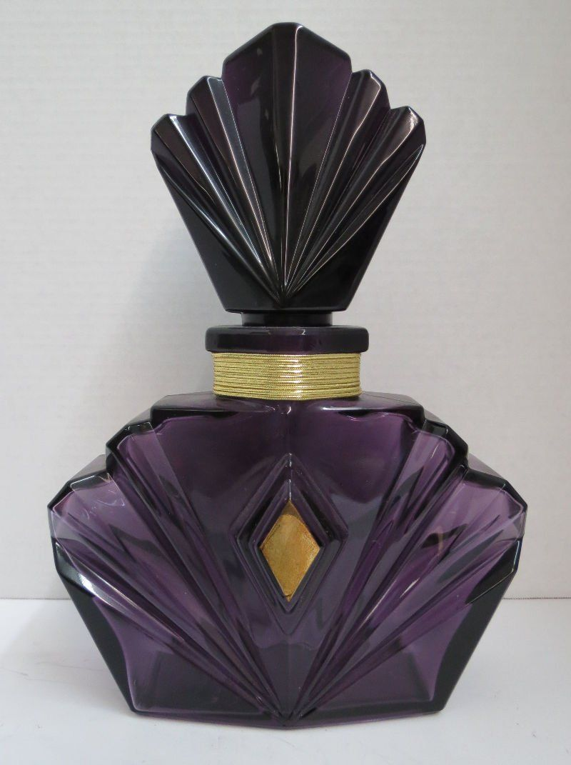 Art Deco Perfume Bottle Purple
