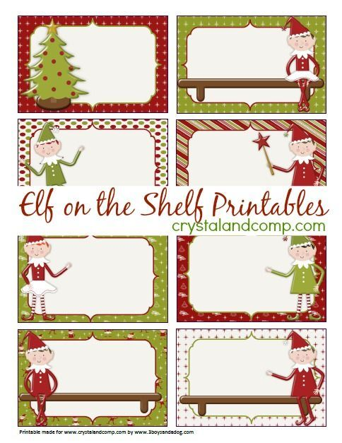 Elf On The Shelf Printables Blank Note Cards Christmas Note Christmas Note Cards Christmas Tags Printable