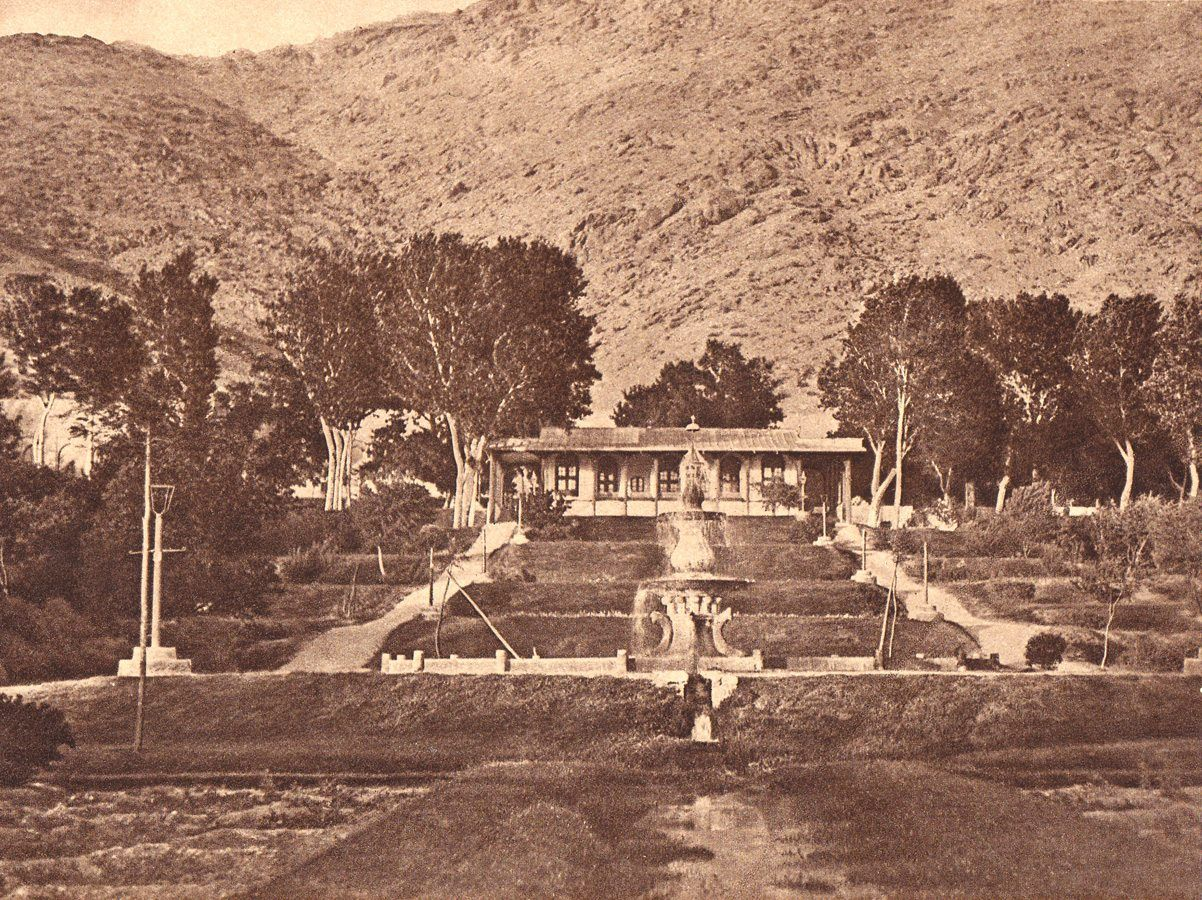 GARDEN OF BABUR NEAR KABUL. Of 1915-1916. It is historical garden ...