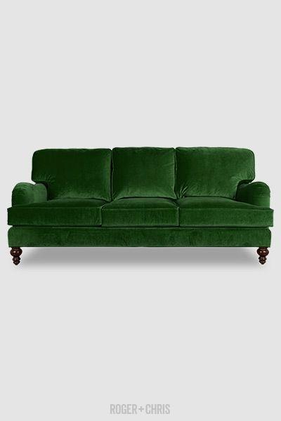 Strange Green Velvet Sofa Pillow Back English Roll Arm Sofa Custom Beatyapartments Chair Design Images Beatyapartmentscom