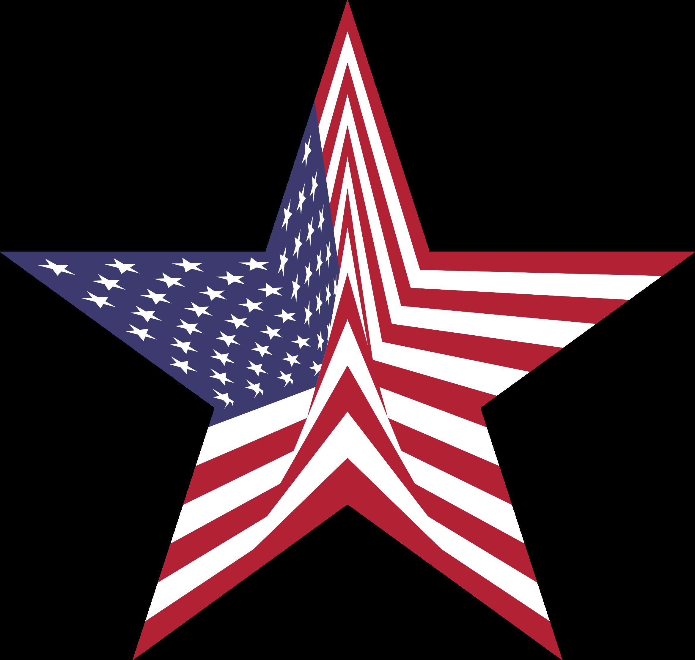 America Flag Star By Gdj American Flag Clip Art Free Clip Art Clip Art