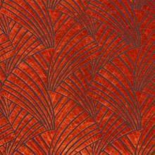 6 Colors Art Deco Cut Velvet Upholstery Fabric Rusty Red Beige Blue Gray Black / RMIL14