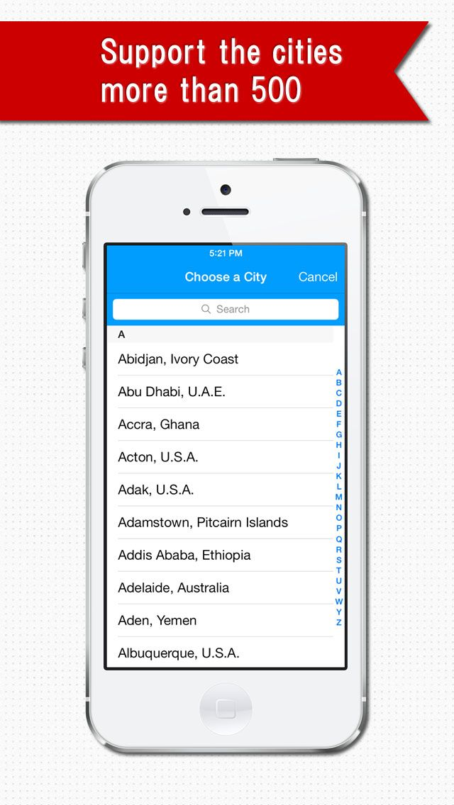 """World Clock"""" is an application that displays a list of the"""