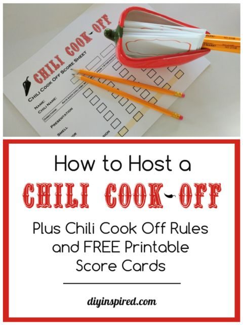 Chili Cook Off Rules and Free Score Sheet - DIY Inspired