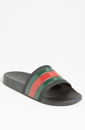 ccdc5160a35 Free shipping and returns on Gucci  Pursuit  72 Slide  Sandal at  Nordstrom.com. An iconic striped strap defines a well-cushioned sandal with  logo embossed ...