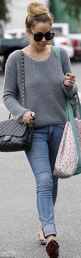 f76ef8c4b218ab Lauren Conrad: Purse – Chanel Sweater – Topshop Shoes – Christian Louboutin