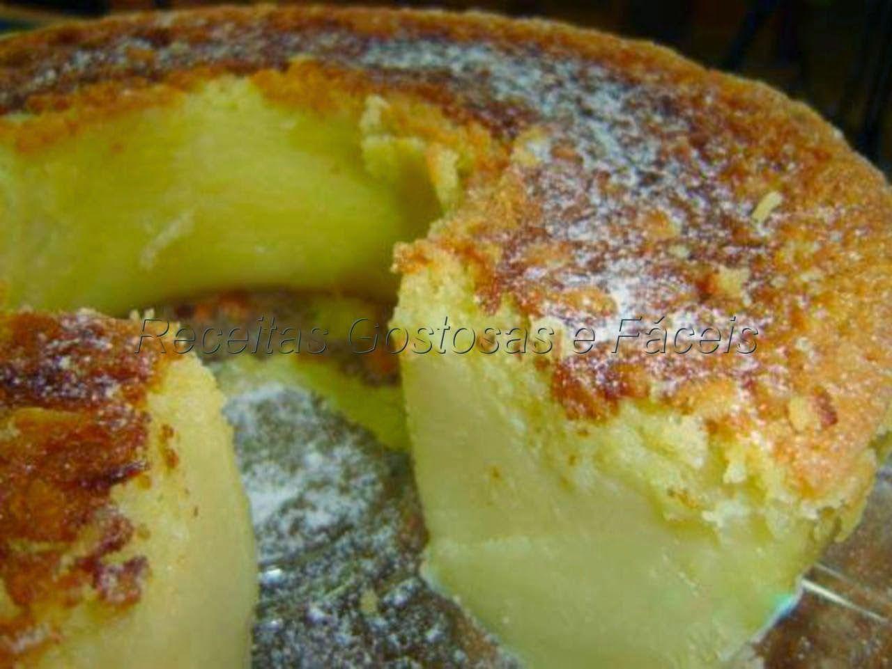 Receitas Gostosas e Fáceis .: Bolo de coco e queijo