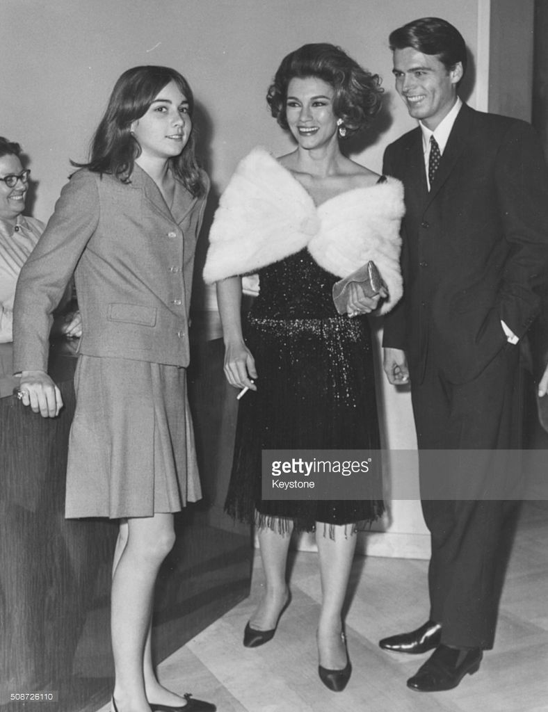 Actress Linda Christian And Her Daughter Romina Power With Actor