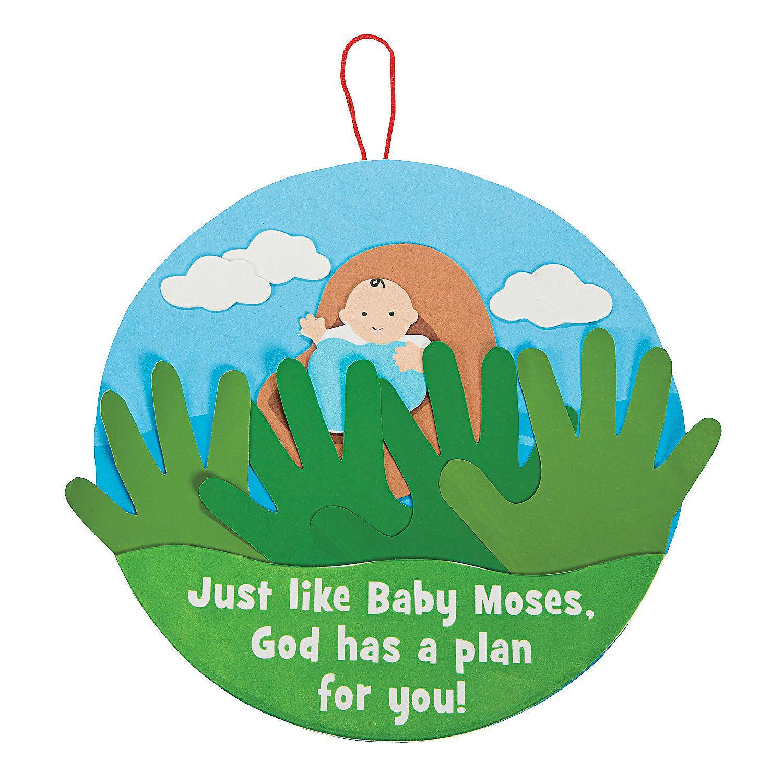 Handprint Baby Moses Sign Craft Kit - OrientalTrading.com | CityKids ...