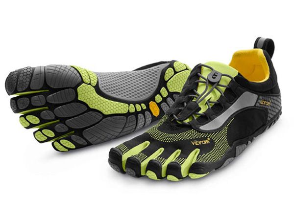 Men's Minimalist Shoe– Vibram FiveFingers Bikila LS in green. Have to wear  special socks with them, but walking or running in them is an experience