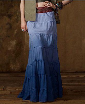 Denim & Supply Ralph Lauren Skirt, Long Ombre Cotton Maxi - Womens Skirts - Macy's