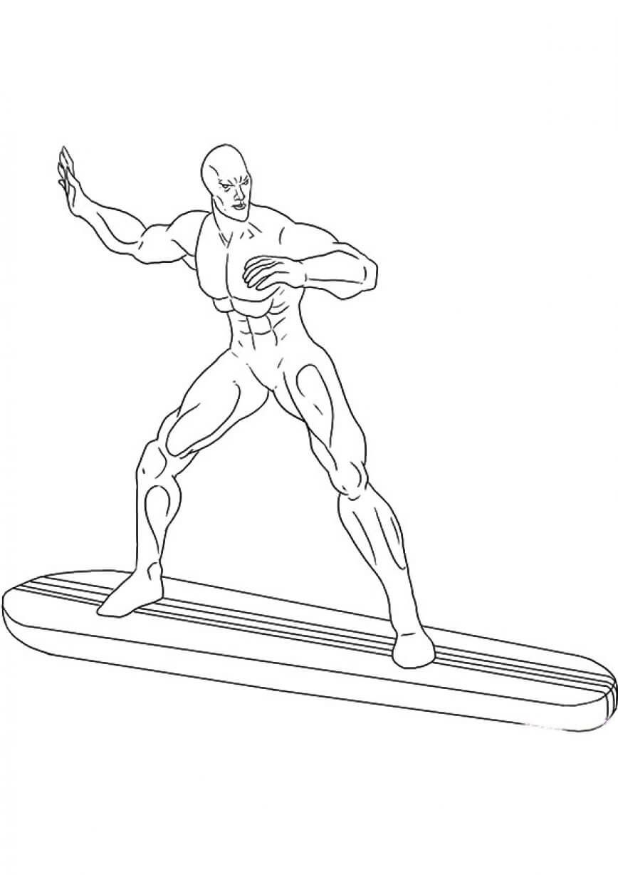 Superhero The Silver Surfer Coloring Pages