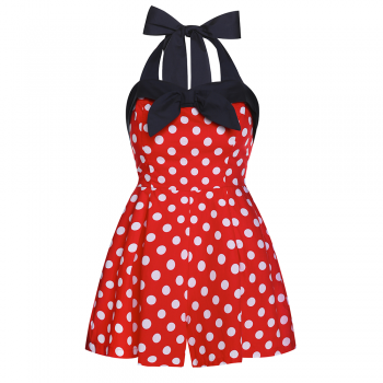b6b4403e99 Vintage Rompers and Retro Playsuits Christina Red White Polka Playsuit  £20.99 AT vintagedancer.com