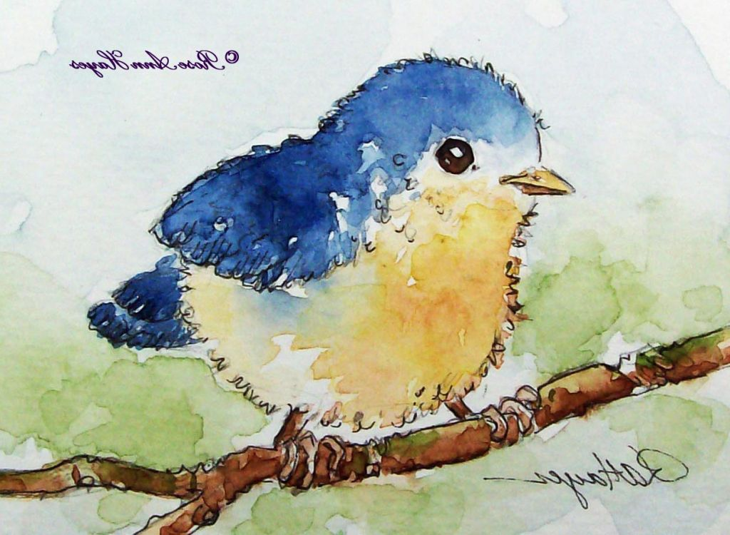 Simple Watercolor Google Search Dessin Oiseau Peinture Dessin