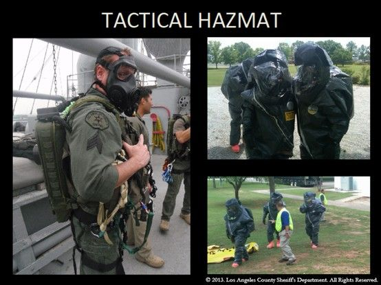 Tactical Hazmat Ops Tactical Los Angeles County County Sheriffs