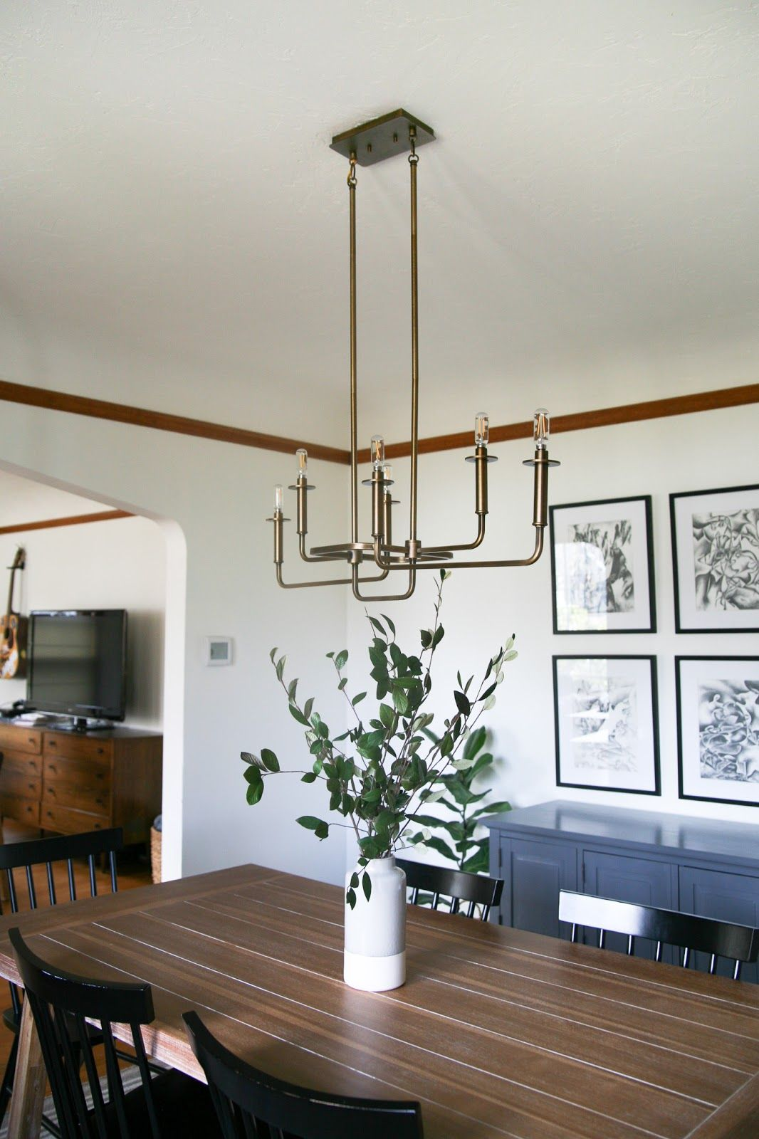 Modern Traditional Dining Room Decor Reveal Dining Room