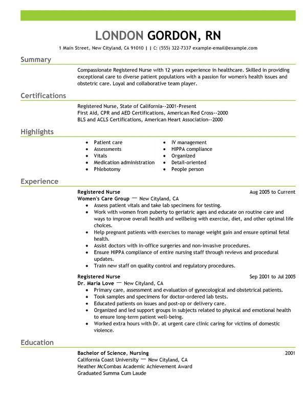 That Highlight Skills Nursing resume and Sample resume