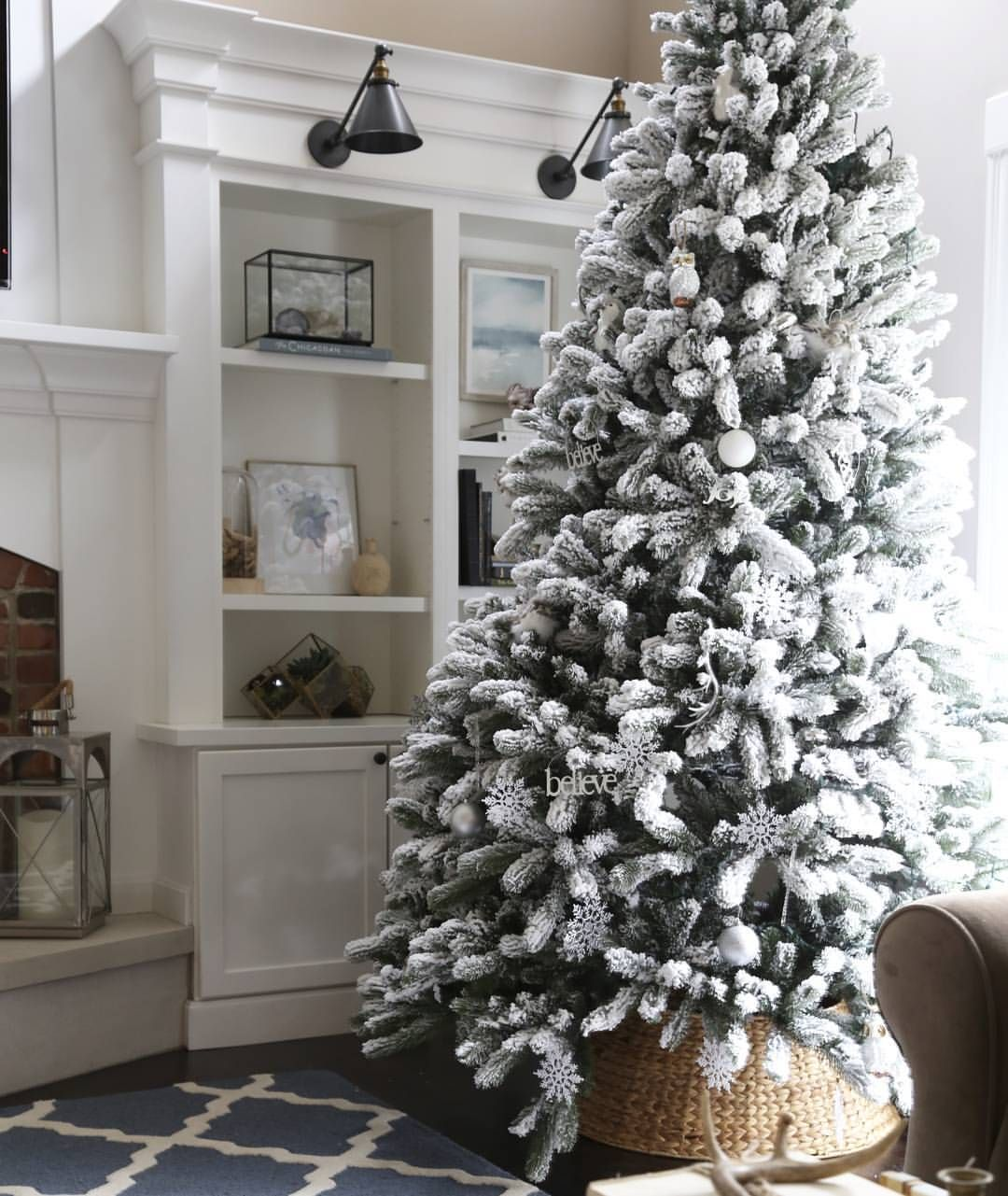 Pin By Bridget Downey On Christmas Flocked Artificial Christmas