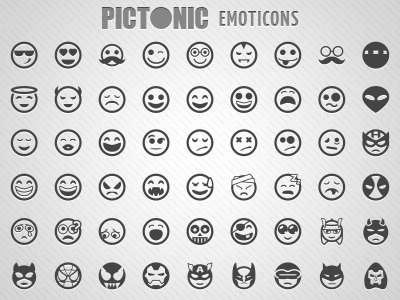 Pictonic Font Icons Emoticons Emoticon Icon Fonts
