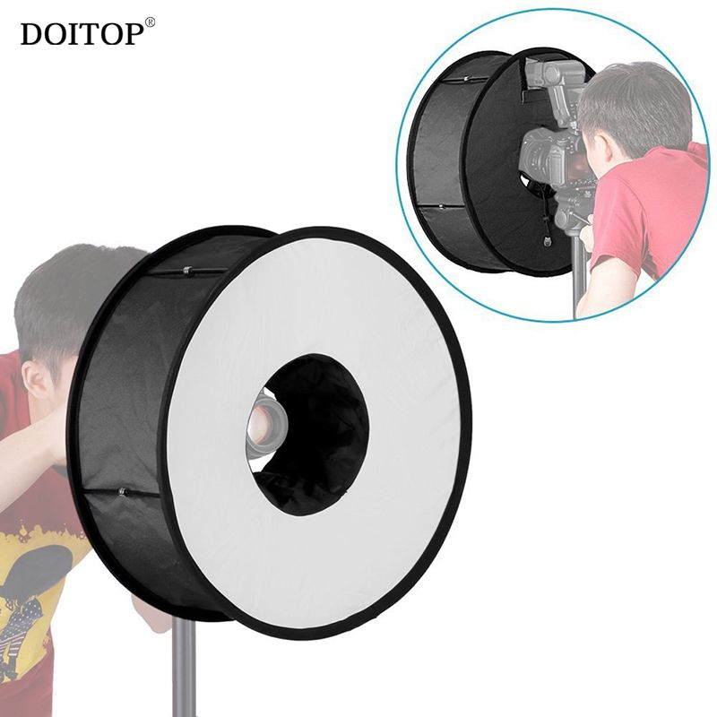 Compare Price DOITOP 45cm Round Foldable Flash Diffuser Universal Soft box Flash light Ring Macro Shoot Soft box for Canon Nikon Speedlight #DOITOP #45cm #Round #Foldable #Flash #Diffuser #Universal #Soft #light #Ring #Macro #Shoot #Canon #Nikon #Speedlight