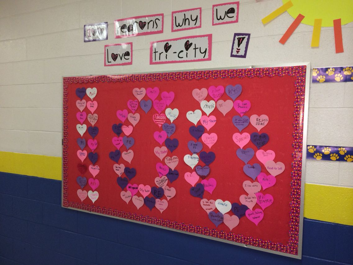 100 Reasons Why We Love Our School Bulletin Board