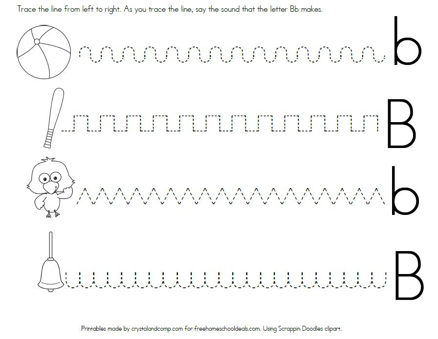 FREE LETTER B WORKSHEETS instant download – Letter B Tracing Worksheets