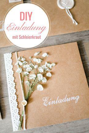 Tarjetas de invitación vintage con gypsophila – Brautrezepte.de