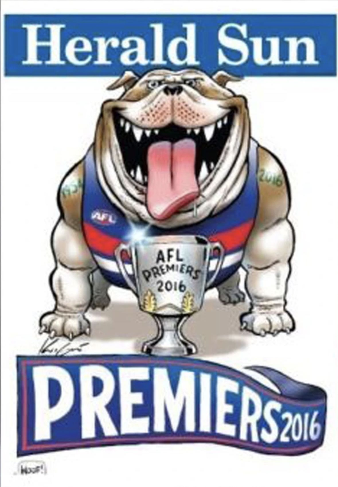 Pin By Dani Parisi On Vfl Afl Premiership Posters In 2020 Western Bulldogs Afl Bulldog