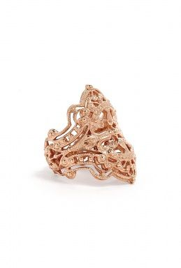 Rose Gold Plated Sterling Silver Chantilly Ring by Iam by Il