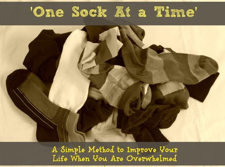 'One Sock At a Time' - Sunshine Whispers  http://www.sunshinewhispers.com/2015/01/one-sock-time/